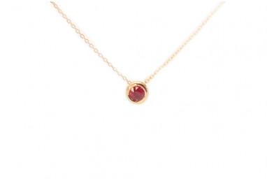 Collana Circle Oro Rosa Rubino