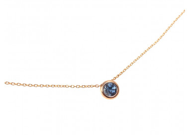 Necklace Circle rose gold Blue Sapphire