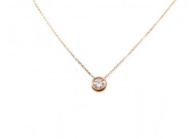 Collana Circle Oro Rosa Diamante