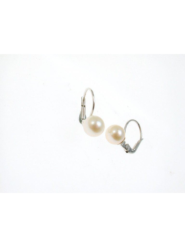 Classic Pearl Earring in white gold