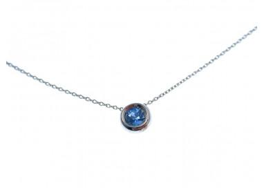 Collana Circle Zaffiro Blu