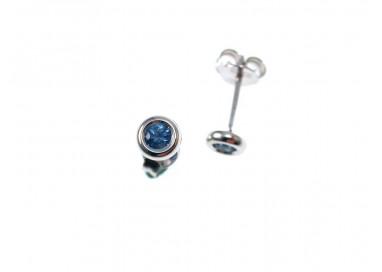 Orecchino Zaffiro Circle 4,5mm