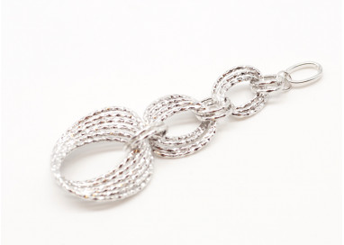 Ovals charms white 18kt gold