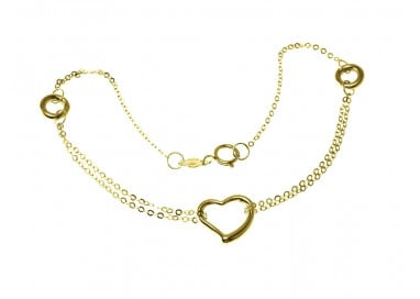 Chain Bracelet with Heart charm