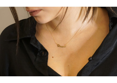 Name Necklace Yellow Gold