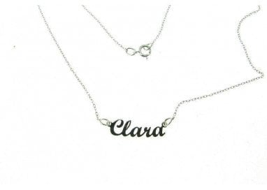 Name Necklace White Gold