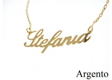Name Necklace SILVER Yellow
