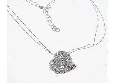 Collana Cuore Diamanti