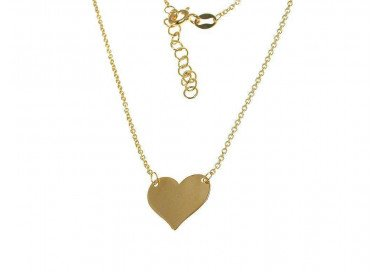 Heart necklace yellow gold